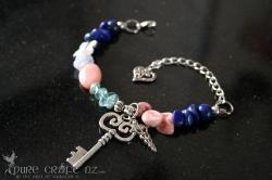 Lapis Lazuli & Pink Opal Cold, Flu & Hay Fever Bracelet  - $45.00