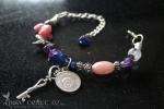 Pink Opal & Amethyst Headache Medicine Bracelet  - $45