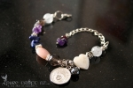 Pink Opal, Mother of Pearl & Amethyst Headache Medicine Bracelet  - $45