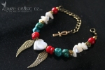 Turquoise, Mother of Pearl & Red Coral Protection & Good Fortune Bracelet -  $55 - Made to Order